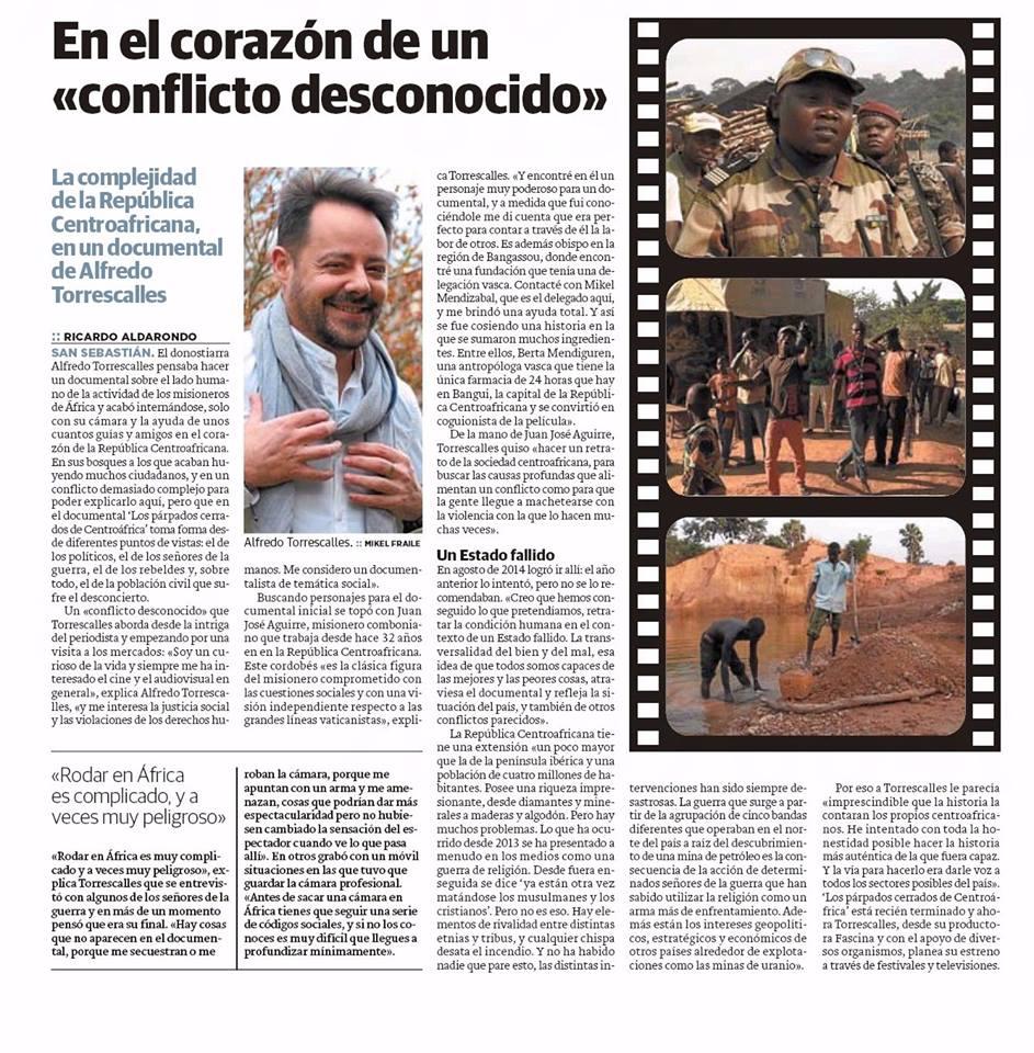 Entrevista Alfredo EL DIario Vasco 5-4-2016